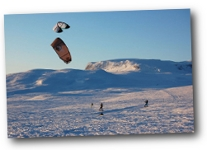 Snow Kiting in Geilo