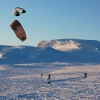 Snow Kiting in Geilo Norway
